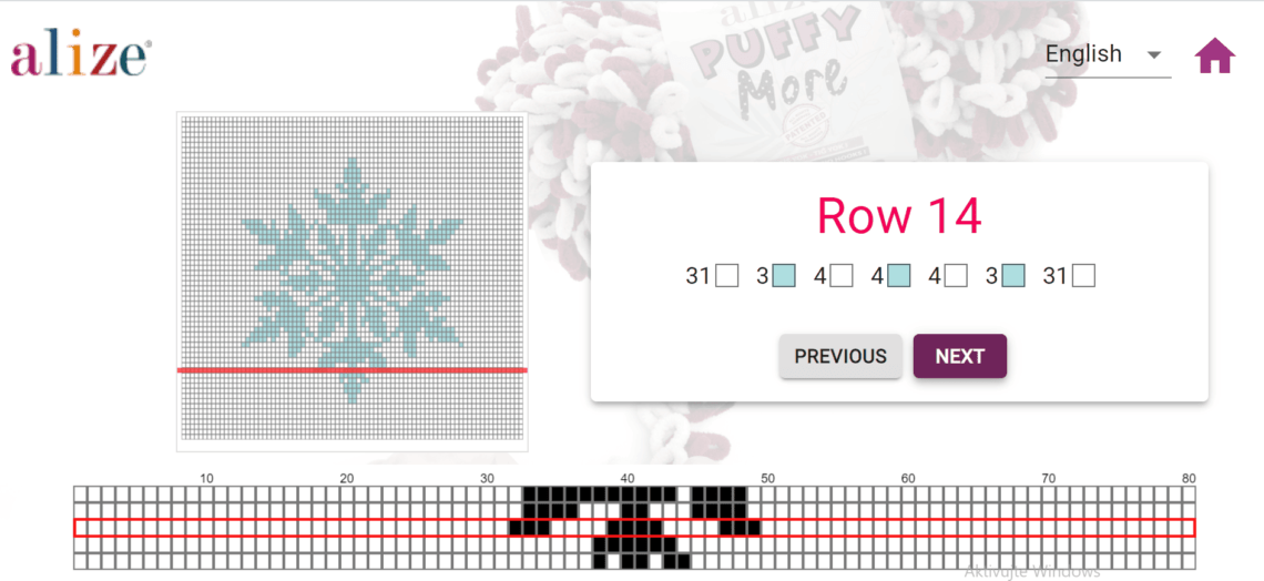 aplikace přehledne ukazuje střídání barev