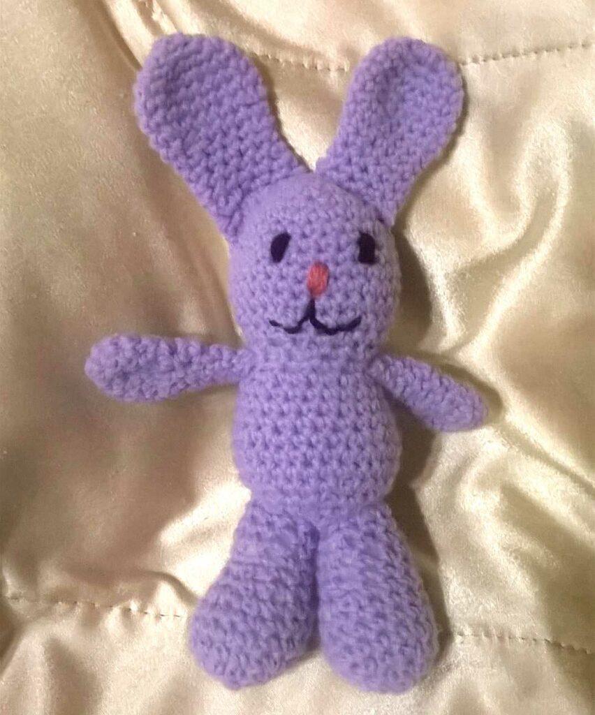 Můj první háčkovaný králíček